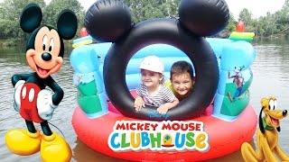 МИККИ МАУС Домик Плавает на Воде Игры для детей Mickey Mouse Playhouse for children