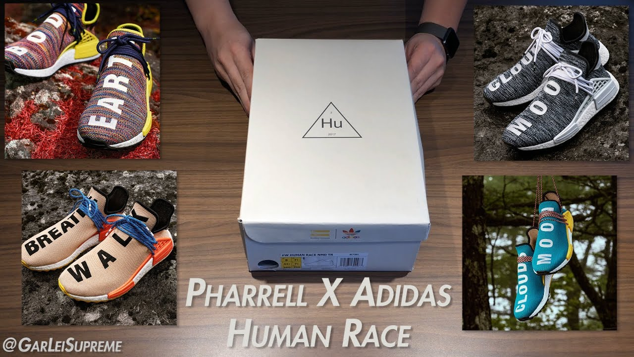 newest 83281 08e86 Pharrell X Adidas Human Race NMD 2017 Unboxing/Review (English)