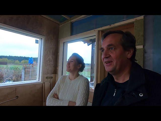 Каркасный дом с панорамными окнами,  фахверк не нужен
