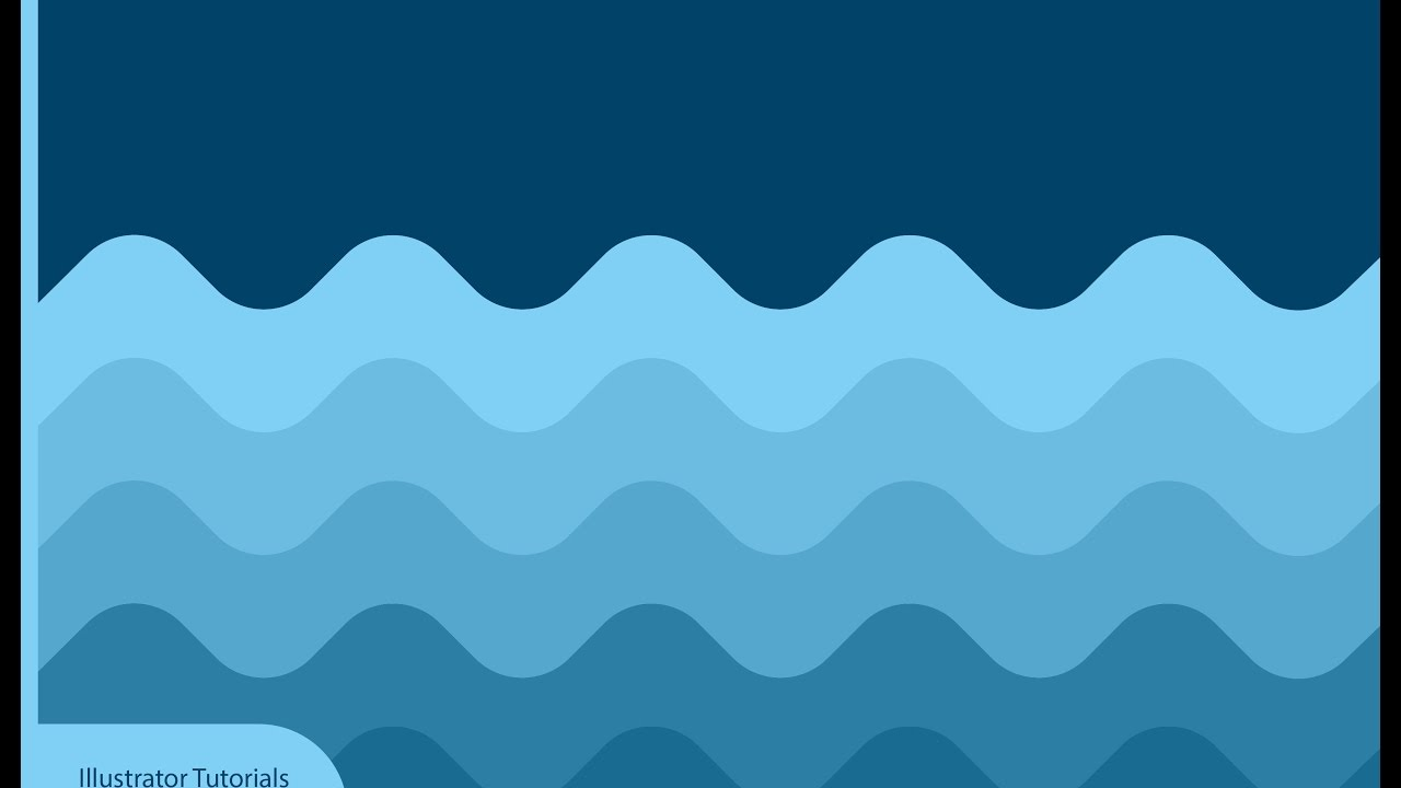 Illustrator Tutorials | Flat Wave Wallpaper