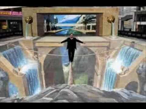 Peinture 3d youtube - Peinture effet profondeur ...