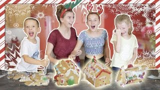 GINGERBREAD HOUSE MAKING GONE WRONG!! (Not clickbait!)  w/ My little cousins!