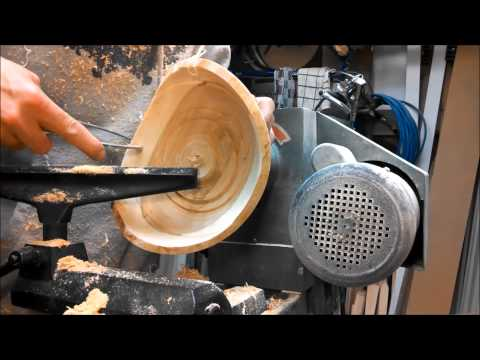 Woodturning - Cherry Two Tone Natural Edge Bowl