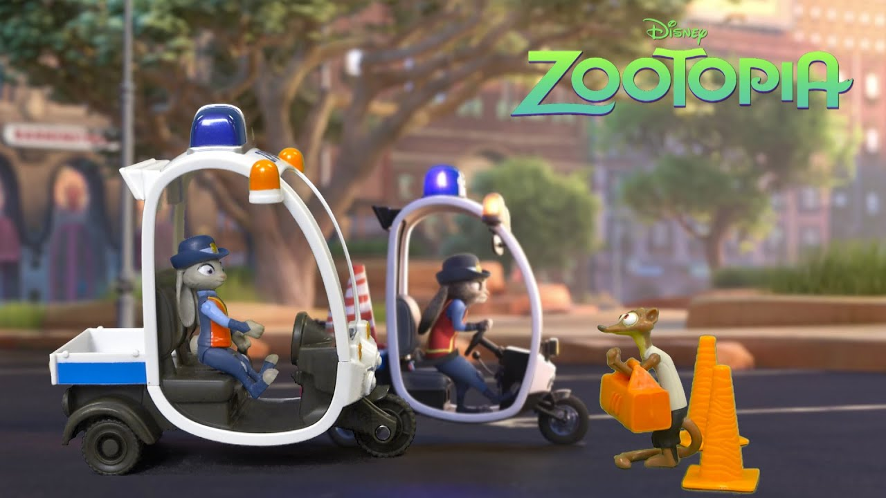 zootopia meter maid pursuit from tomy youtube. Black Bedroom Furniture Sets. Home Design Ideas