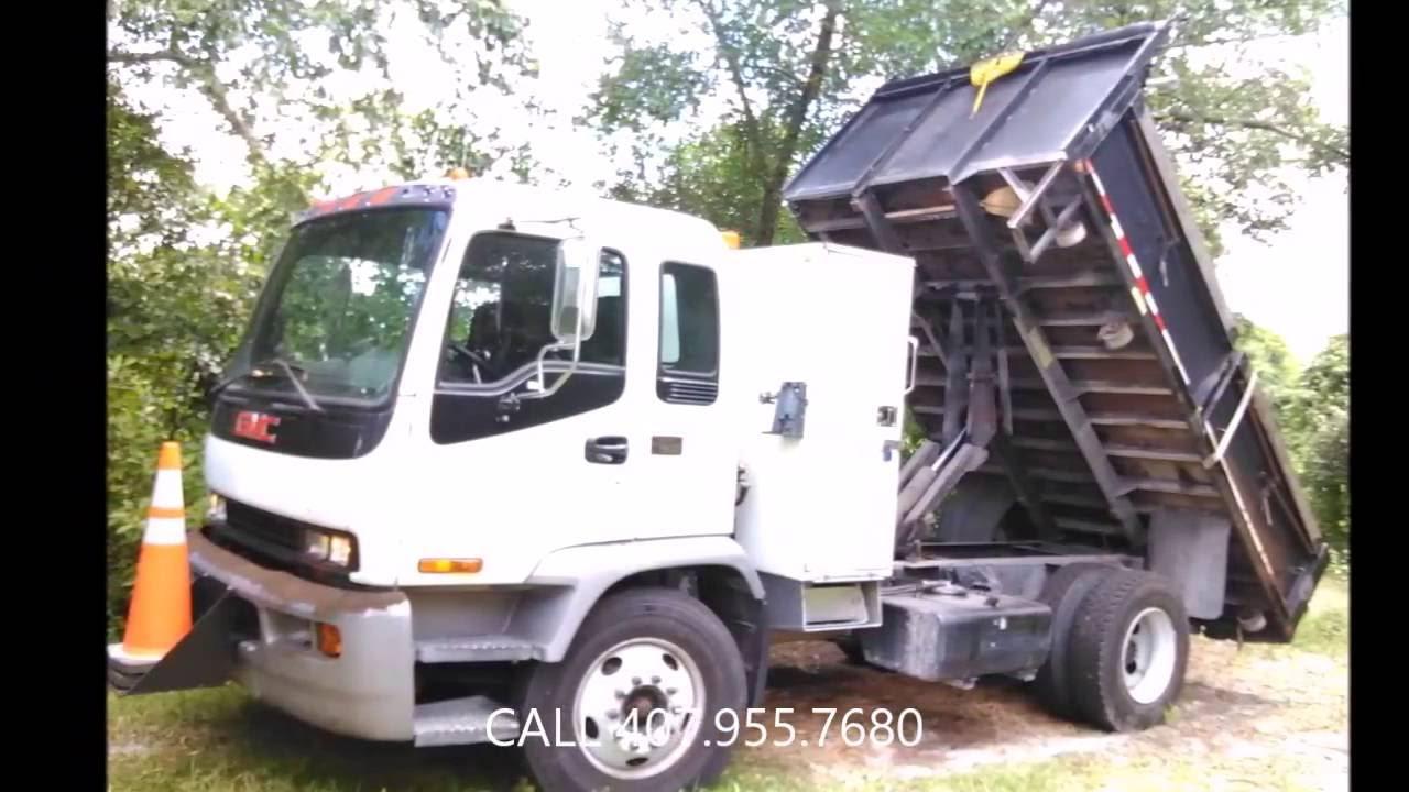 gmc t7500 flatbed dump truck for sale 2004 youtube. Black Bedroom Furniture Sets. Home Design Ideas