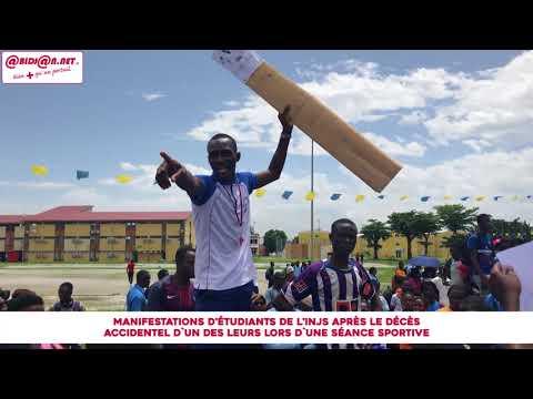 Manifestations d'étudiants de l'INJS après le décès accidentel d`un des leurs