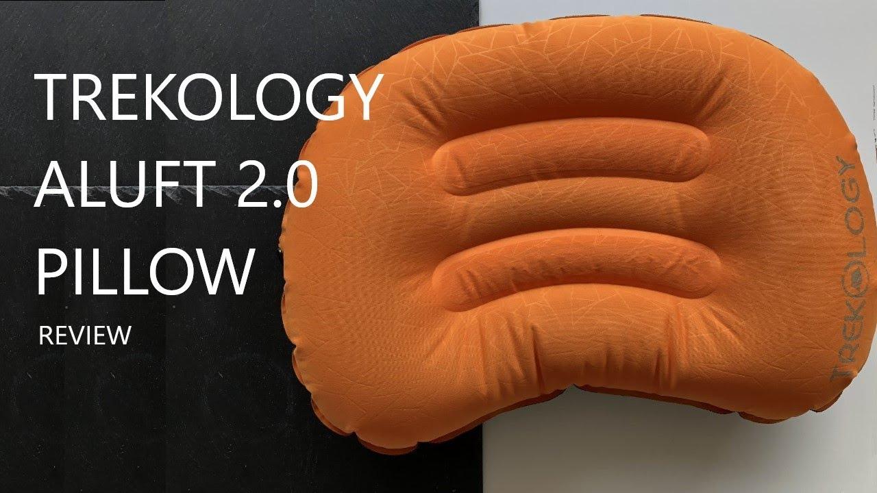 Trekology almohada de camping y viaje inflable ultraligera almohada hinchable ergon/ómica para el cuello y el apoyo lumbar para ir de camping ALUFT 2.0 Comprimible c/ómoda compacta