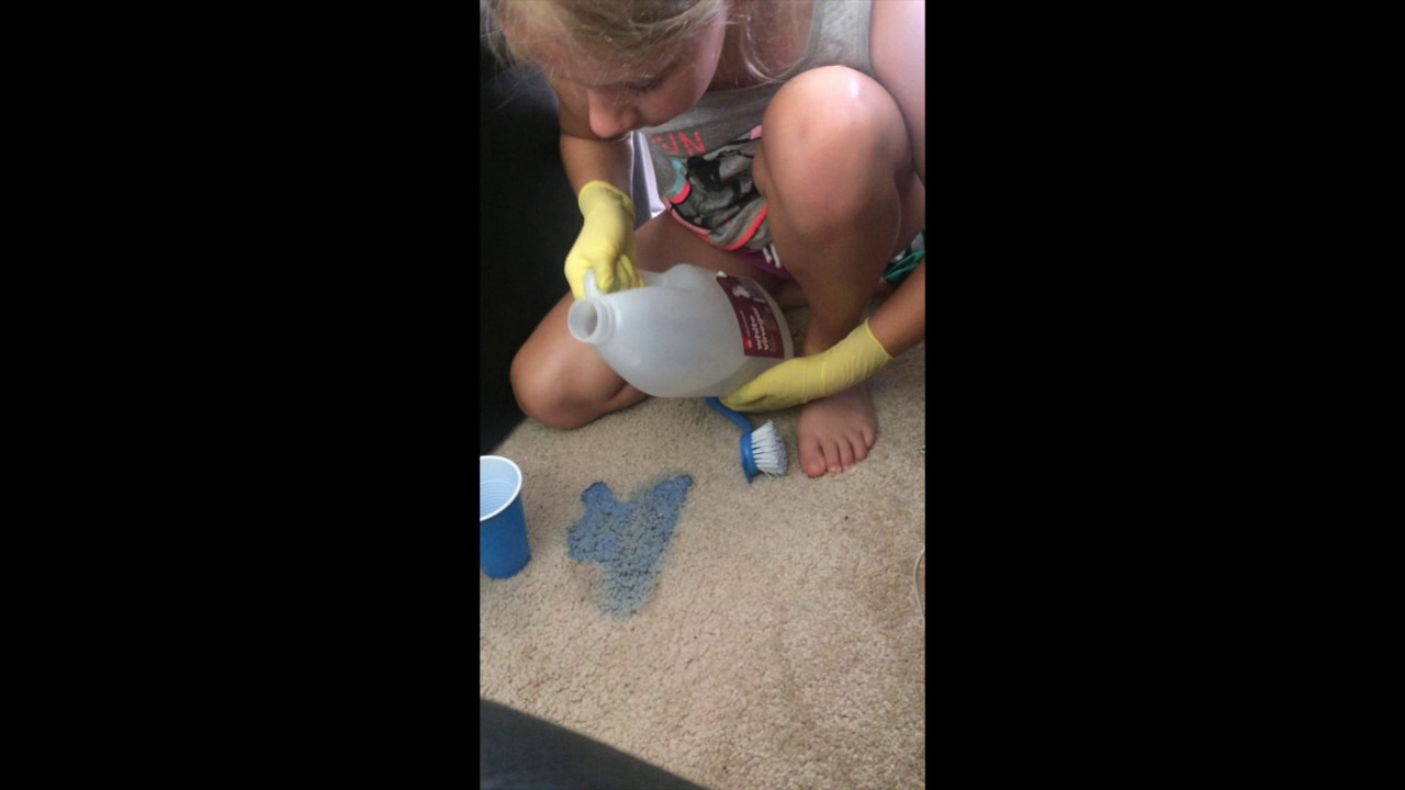 How To Clean Slime From Carpet Youtube