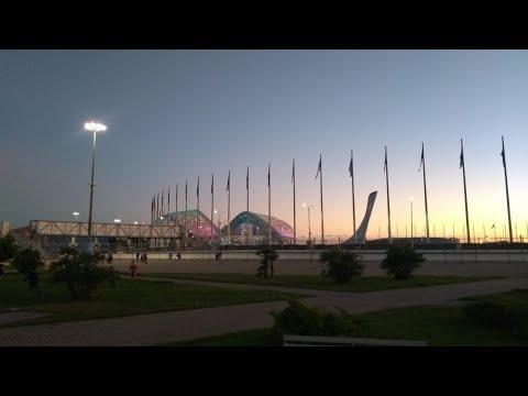 Катаемся на коньках в Олимпийском парке , тренировочная арена Айсберг.