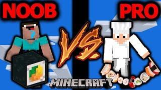 SUSHI NOOB VS SUSHI PRO! - Minecraft