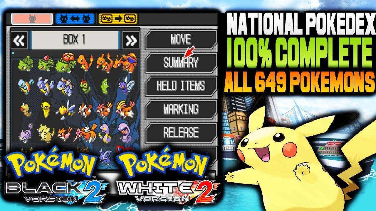 pokemon volt white 2 complete pokedex