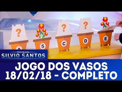 Jogo dos Vasos - Completo | Programa Silvio Santos (18/02/18)