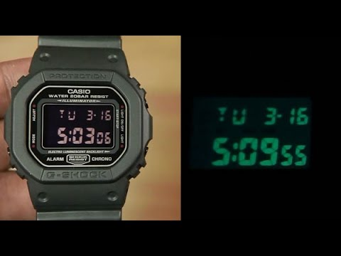 b68aceeba21 Casio G-shock DW-5600MS-1 Military Black Unboxing - YouTube