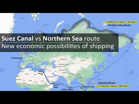 Suez Canal sea route vs Northern Sea route | New economic possibilities of shipping