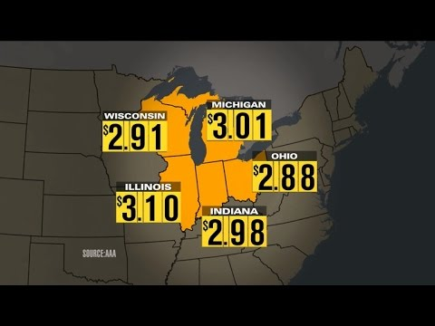 Gas prices spike in Midwestern states