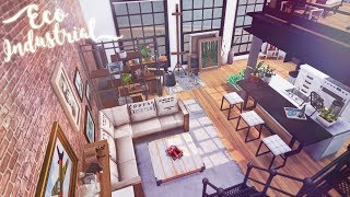 Eco Industrial Loft Apartment 🏭 🌆 | The Sims 4 Eco Lifestyle | Speed Build | CC Free + Download Link