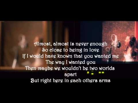 Ariana Grande ft. Nathan Sykes - Almost Is Never Enough (Lyrics)