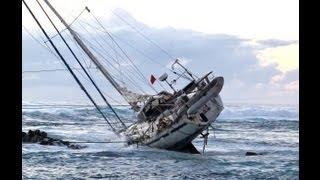 Quelques secondes avant l'échouement du voilier La Rose thumbnail