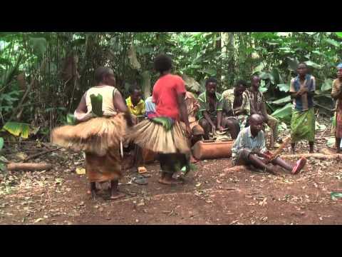 Traditional Baka women's dance, East region, Cameroon