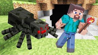 Игра Майнкрафт для новичков – Что ждёт Нуба в пещере? – Мобы Майнкрафт в видео обзоре онлайн.