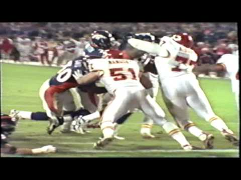 1998 Kansas City Chiefs at Denver Broncos Highlights
