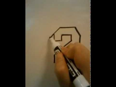 How To Draw 3d Numbers 2 Youtube