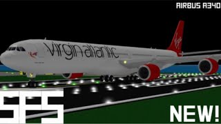Roblox || SFS Flight Simulator Virgin Atlantic (NEW A340 UPDATE!)
