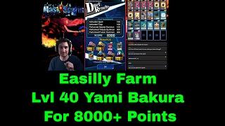 Farm Lvl 40 Bakura For 8000+ Points [New Cards] Very Consistent! | YuGiOh Duel Links w/ MasKScarin