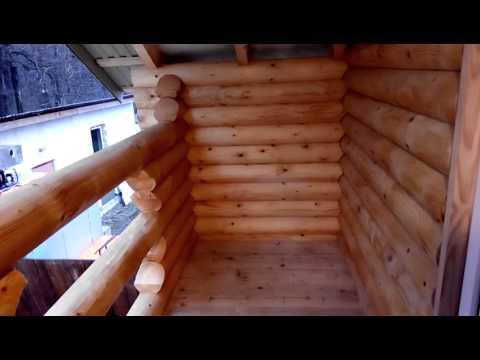 Продажа балкон в деревянном доме карпаты на woodenhouse.com..