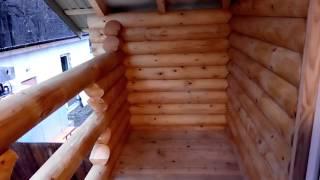 видео Устройство балкона в деревянном доме