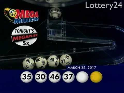 2017 03 28 Mega Millions Numbers and draw results