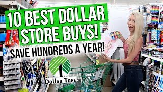 Top 10 BEST Products at the Dollar Tree! Save Hundreds a Year