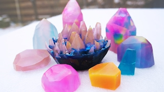 DIY Pastel Gemstone Soaps
