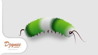 Illustrator Tutorials | Fluffy Caterpillar