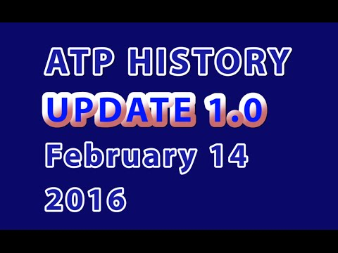 ATP Rankings History - 'Update 1.0' - February 14, 2016