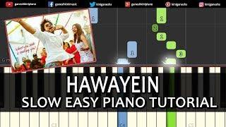 Hawayein Song Jab Harry Met Sejal|Shah Rukh Khan Arijit Singh|Piano Tutorials Chords Instrumental