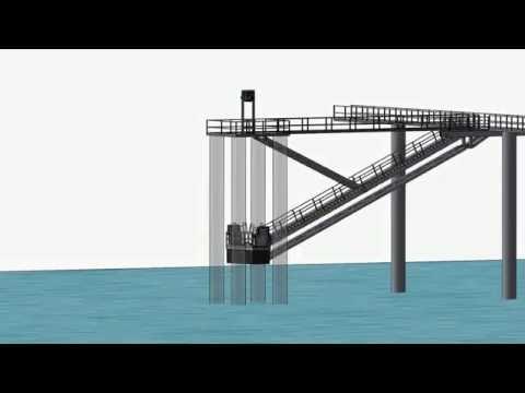 Tidal Access Platform (Pat Pending) - Raised position - 2 vessel concept