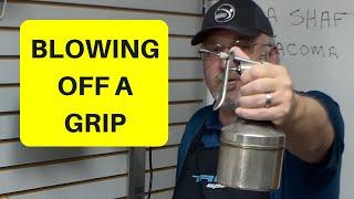 How to Blow oḟf a grip, Mizuno MMC irons