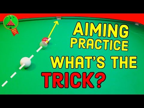 Snooker Aiming Practice Trick