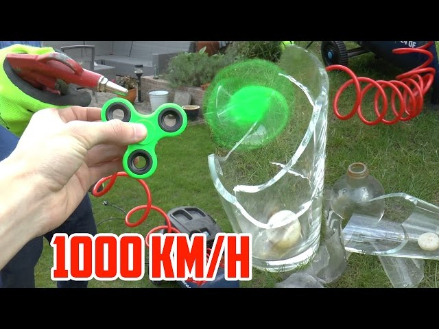 1000 KM/H FIDGET SPINNER VS DIK GLAS