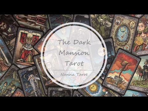 開箱  黑黯官邸塔羅牌-深邃棕紅 • The Dark Mansion Tarot- Gold edges, brown reverse of cards // Nanna Tarot