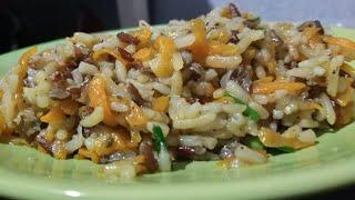 Рецепт риса в сковороде, очень вкусный и рассыпчатый рис без мяса