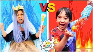 Hot Vs Cold Ryan and the Ice Queen The Movie 1 hr kids video!!