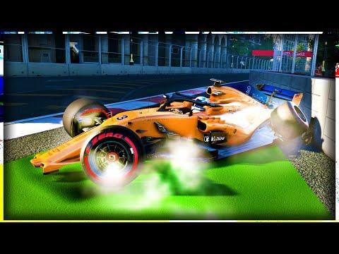 ALIEN ACTIVITY AT BAKU! WTF IS THIS CRASH?! - F1 2018 Career Mode Part 151