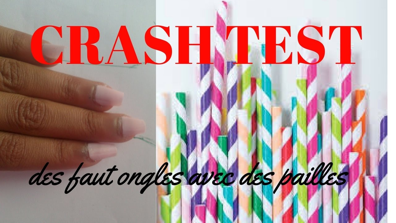 faux ongles paille