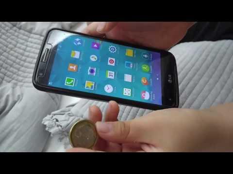스마트폰 속으로 들어 가는 동전마술