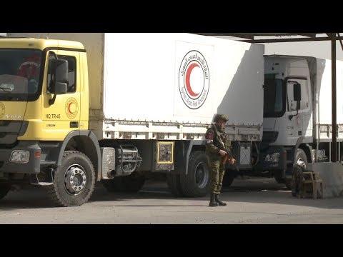 UN Aid Convoys Start Entering Syria's Rebel Held Eastern Ghouta