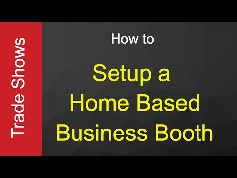 How To Setup A Home Based Business Trade Show Booth Youtube
