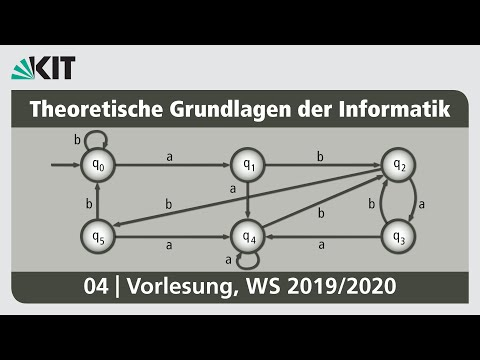 04: Pumping-Lemma für reguläre Sprachen, Verallgemeinertes Pumping-Lemma, Äquivalenzklassenautomat from YouTube · Duration:  1 hour 5 minutes 23 seconds