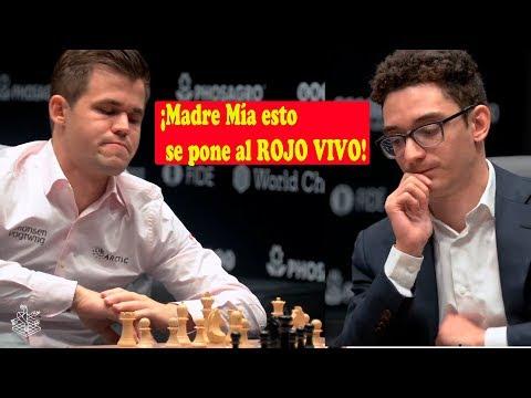 Fabiano Caruana VS  Magnus Carlsen | Campeonato del Mundo de ajedrez 2018 (Ronda 1.2)